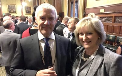 Evo goes to Westminster: Juliet and Greg attend the Parliamentary Review gala evening