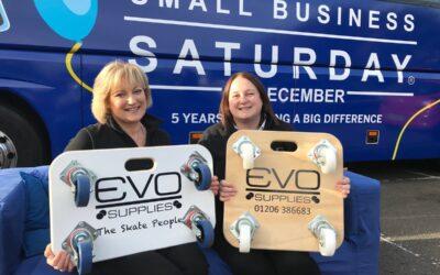 Evo on the Small Business Saturday Blue Sofa #Smallbiz100