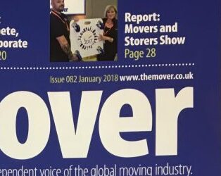 Front page of The Mover magazine! (OK, so it's not the MAIN cover photo, but we're still rather pleased to see ourselves there …)