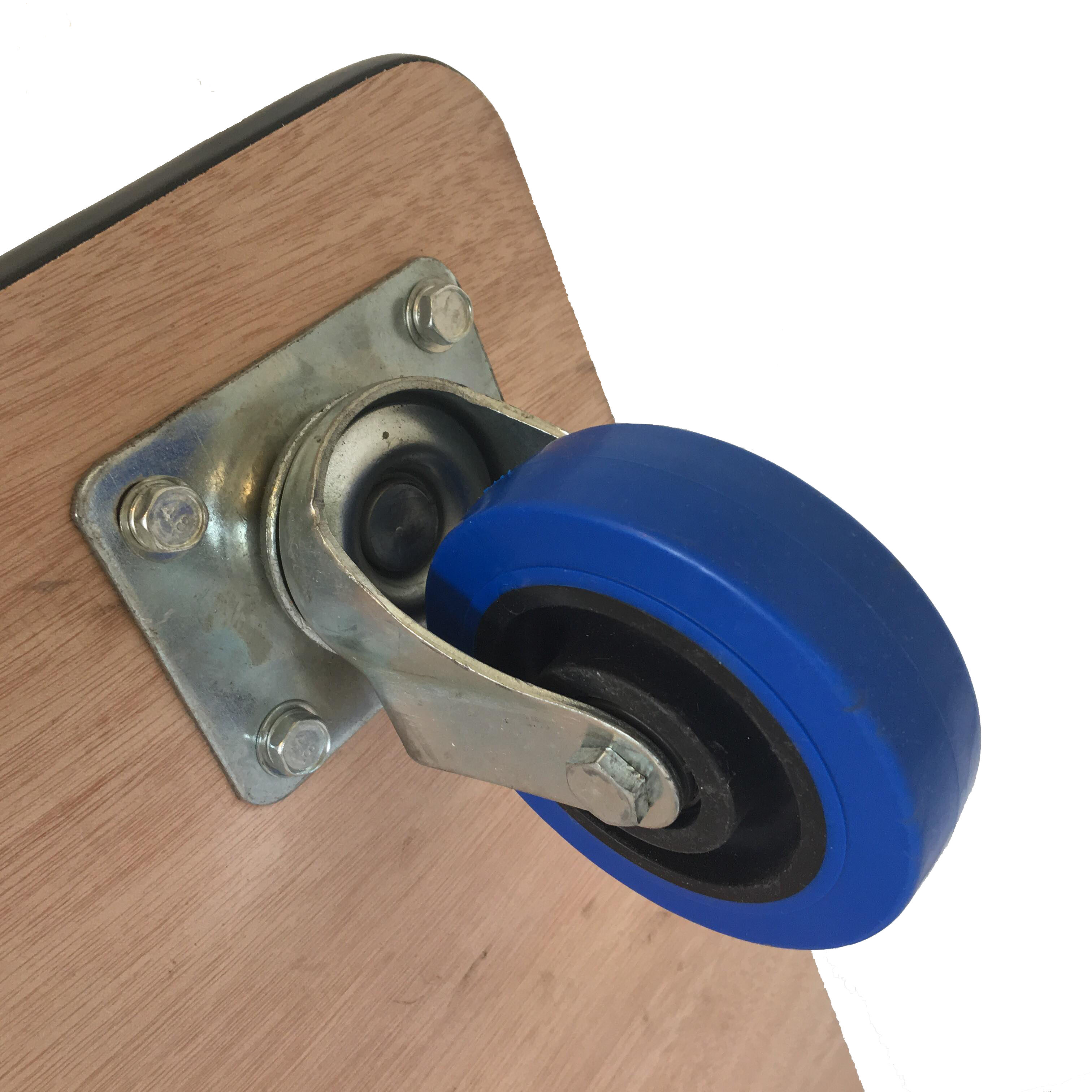 Detail of 480mm rubber edged dolly