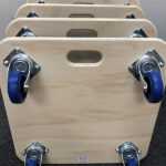 590mm square furniture skates by Evo Supplies