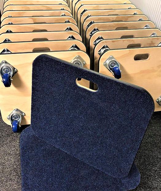 custom-sized carpet top dollies by Evo Supplies