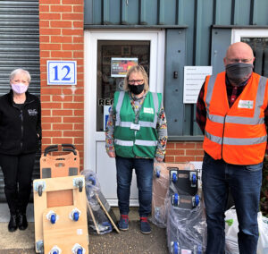 Colchester foodbank volunteers at Evo Supplies
