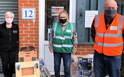 Wheeling into action – Evo Supplies donates dollies to Colchester Foodbank